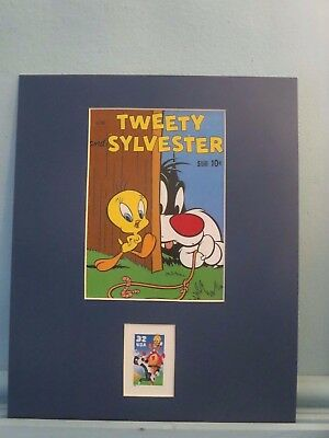 Saluting Slyvester & Tweety Bird  honored by their own stamp