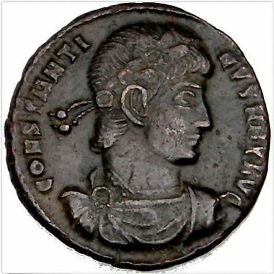 Ancient Coin House: CONSTANTINE The GREAT BRONZE COIN IMPERIAL ROMAN EMPIRE COA