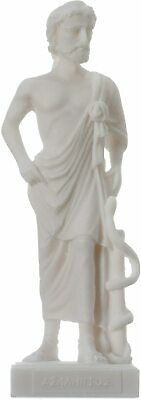 Asclepius Alabaster statue Ancient Greek God of medicine artifact 6.7""