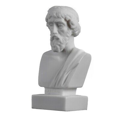 Plato Bust Greek Father Of Philosophy Statue Alabaster Handmade Head Sculpture