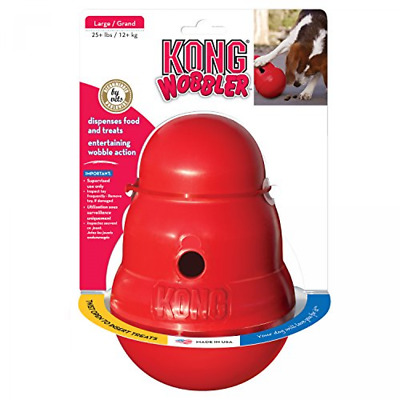 Dog Toy Kong Wobbler Treat Dispensing Large Weighted Entertaining Wobble Action