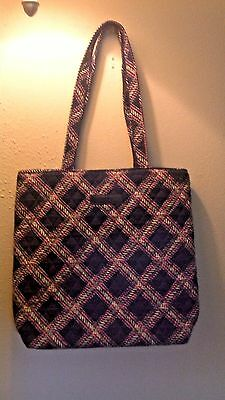Vera Bradley Factory Exclusive Tote Bag In MINSK PLAID   used for only 4 days