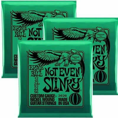 3 sets Ernie Ball Not Even Slinky  Set, .012 - .056 Electric Guitar Strings