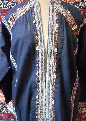 Rare, Vintage Yemeni tribal wedding or ceremonial dress, exquisite embroidery