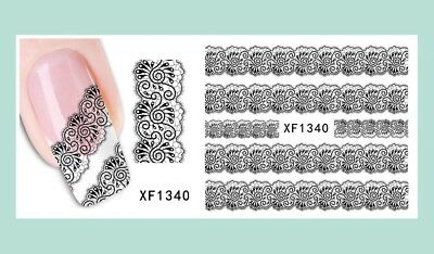 BOHO NAIL ART Water Decals Transfers Stickers Brown Henna Festival ...