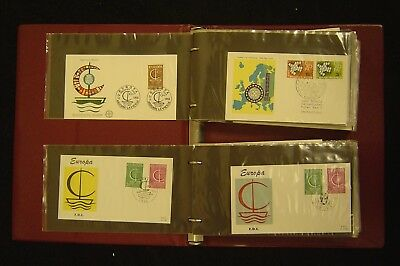 Europa First Day Covers Nearly Complete Collection 1961 to 1965 in Album