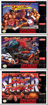 SNES Street Fighter Fridge Magnet 50mm x 35mm