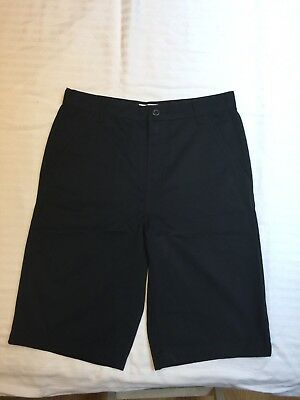 Old Navy BOYS BLACK UNIFORM/CASUAL SHORTS SZ. 14 YOUTH Adjustable Waist LIKE NEW