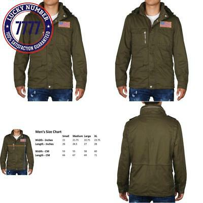 9 Crowns Men'S Stand Collar Lightweight Front Zip Utility Jacket-Military Green-
