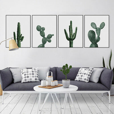 Nordic Minimalist Cactus Poster Modern Print Home Decor Art Canvas Painting