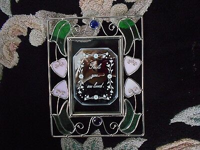 Stained Glass Window Panel Suncatcher With Mirror Center