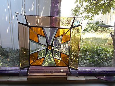 Stained Glass Window Panel Suncatcher Large Art One Of A Kind