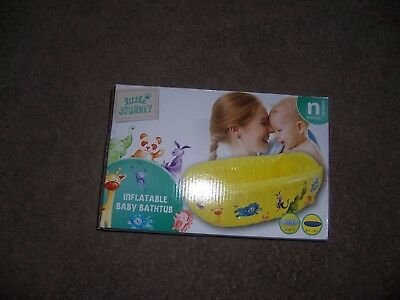 Little journey inflatable baby bathtub up to 24 lbs new yellow