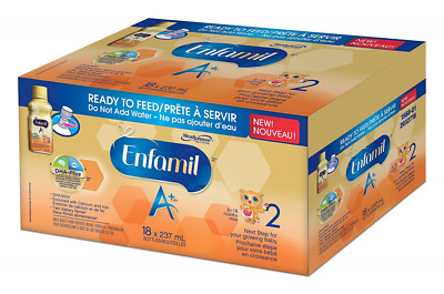 Enfamil A+2 Baby Formula Ready to Feed 18 Pack, 4266ml