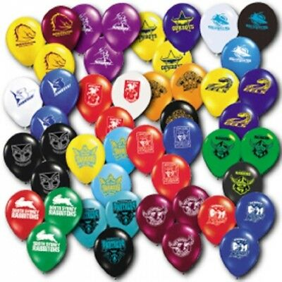 Official NRL All Team Pkt 25 Balloons Double Sided FREE POST