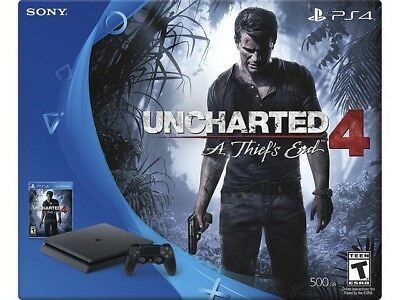 BRAND NEW Sony PlayStation 4 Slim 500GB WITH UNCHARTED 4 BUNDLE