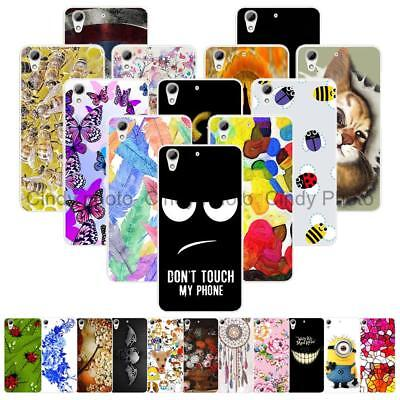 For HTC Desire 728 728G Hard Case Cover Tower Animal Insect Cartoon Deer Snake