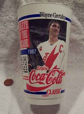 1987-88 Coca-Cola Classic Gretzky Athlete Of The Decade Plastic Drinking Cup