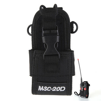 MSC-20D Durable Nylon Pouch Walkie Talkie Holster Bag For Most Two Way Radios