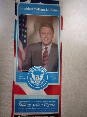 Doll Collectable President Bill Clinton New In Box. Talking