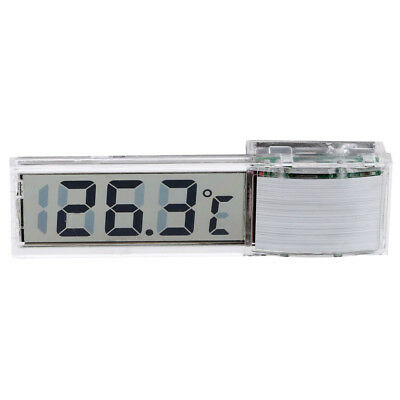 Mini Transparent Digital Thermometer LED Temperature Meter for Aquarium K7P4