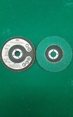 "3m 4"" Abrasive Flap Disc type 29 577F 10 pack 5/8"" center 60 grade 28545"