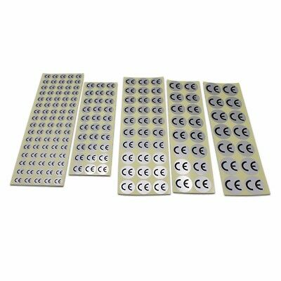 Self Adhesive CE Certification Marks Silver Label Stickers Shipping Laser Round