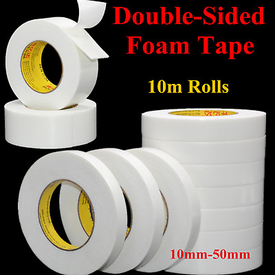 Super Strong Double Sided Permanent Self Adhesive Foam Car Trim Body Tape White