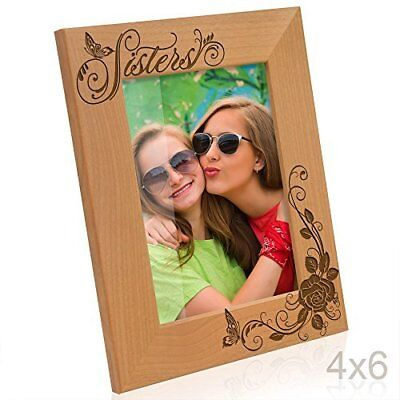 Kate Posh Brother Sister Picture Frame 4x6 Vertical New Free