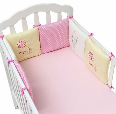 6pc! Baby Infant Crib Bumpers Cushion Toddlers Safety Nursery Bedding Protection