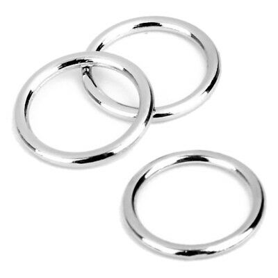 Round Ring Buckle of Bra in Iron for Sewing 10mm Lot of 100pcs Silver Color H7F6