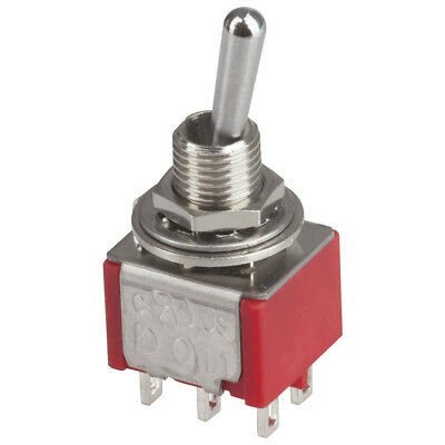 NEW DPDT Miniature Toggle Switch - Solder Tag ST0355