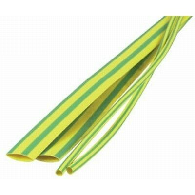 NEW 10mm Green/Yellow Heatshrink Tubing WH5612