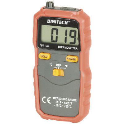 NEW Digital Thermometer with K-Type Thermocouple QM1602