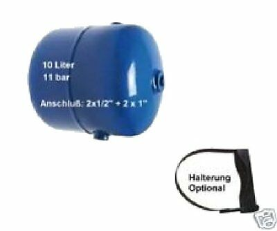 """Compressed Air Tank 10L Mobile/Stationary 11 bar G = 1/2 1 """""""