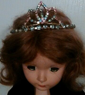 Colorful Rhinestone Stretch Tiara For Your Baby Dolls Head + Free Ship