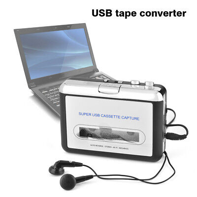 Tape to PC USB Cassette & MP3 CD Converter Capture Digital Audio Music Player SS