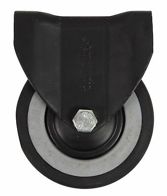 Plasto 100 mm Fixed Furniture Castor Wheel With Top Plate, 165 Lbs Load Capacity