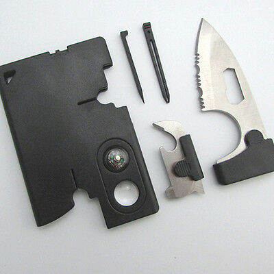 10 in 1 Survival Knife With Compass Multifunctional Outside Pocket Card Hunting
