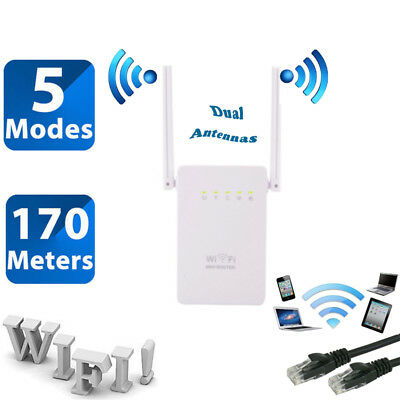 300Mbps Wireless AP Range Extender WiFi Repeater Signal Booster Network Router A