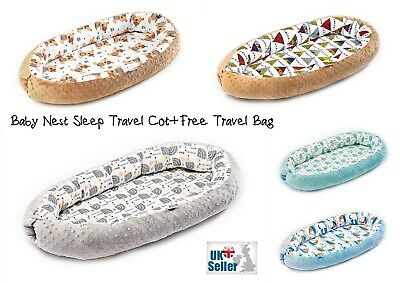 Baby Sleep Nest Newborn Cushion Travel Cot Bed Positioner Co Sleeper Pod NEW