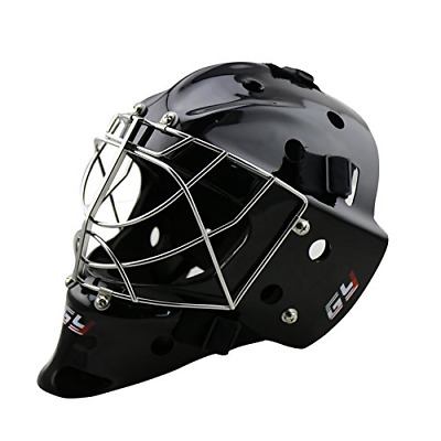GY Professional Durable Cat Eye Cage Ice Hockey Goalie Mask CE Approval (Black,