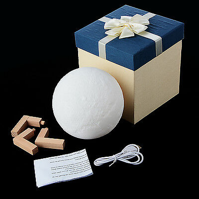 2017 3D Moon Lamp USB LED Night Light Moonlight Gift Touch Sensor Color Changing