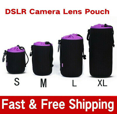 S/M/L/XL Waterproof Neoprene DSLR Camera Lens Soft Protector Pouch Case Bag