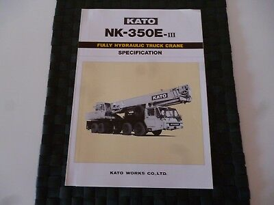 Kato Nk 350E Iii Fully Hydraulic Truck Crane Spec Leaflet/pamphlet *as Pictures*