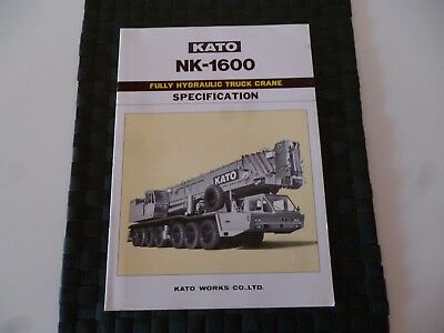 Kato Nk 1600 Fully Hydraulic Truck Crane Spec Brochure/booklet *as Pictures*