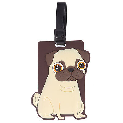 Pug Luggage Tag Super Cute Travel Accessory and Xmas Gift