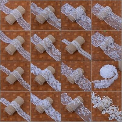 5Metres Cotton Polyester Lace Trim Ribbons Wedding Applique Sewing Craft Deco