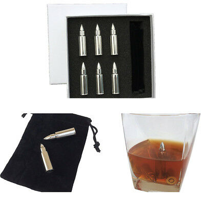 Bullet Stainless Steel Ice Cube Whisky Stones Wine Cooler Beer Cola Cooling New