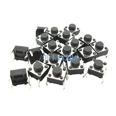 1000Pcs 6x6x5mm Micro Switch PCB Momentary Tactile Tact Switch Button